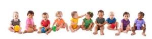 line of infants