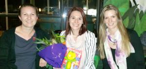 Dr Kristelle Hudry, Dr Cherie Green and PHD Candidate Emma Baker