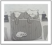 Cartoon of people sleeping
