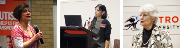 Dr Nancy Sadka, Professor Cheryl Dissanayake, Dr Sylvia Walton