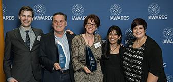 Lachlan Burnside (OTARC), Mike Burnside (Salesforce), Melinda Denham (OTARC), Prof Cheryl Dissanayake (OTARC) and Dr Josephine Barbaro (OTARC)