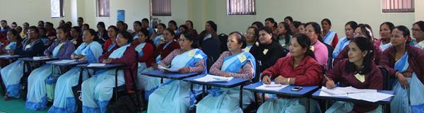 Dr Barbaro is in Nepal to train Female Health Nurse Volunteers